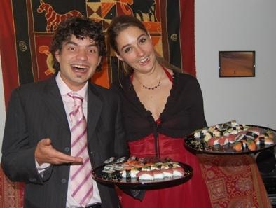 Sushi für Hochzeit
